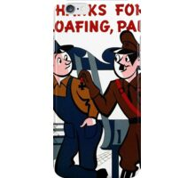 World War 2 Propaganda Poster - WW2 Poster - Nazi - Hitler  iPhone Case/Skin