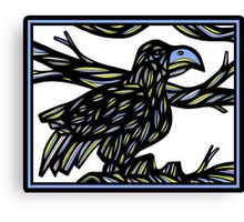 Aquiline Bird Blue Yellow White Canvas Print