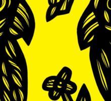 Acquiesce Bird Yellow Black Sticker