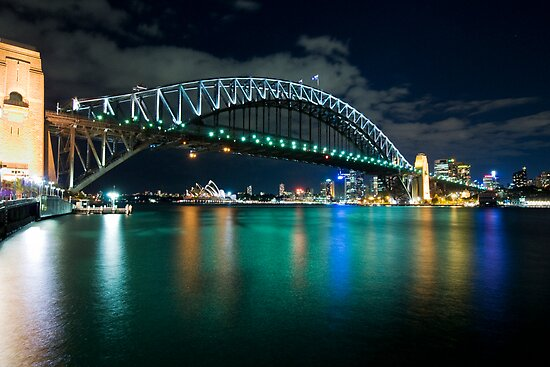 Bridge at night from Kirribilli by Clayton Hairs