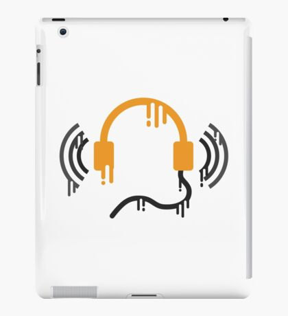 Molten Headphones iPad Case/Skin