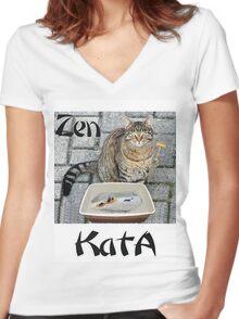 Zen KatA Women's Fitted V-Neck T-Shirt