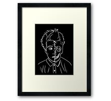 Can you stand the person you've become? Framed Print