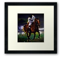 Polo swipe Framed Print