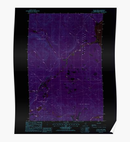 Maine USGS Historical Map Island Pond 105230 1985 24000 Inversion Poster
