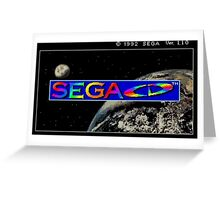 Sega CD Start Screen Greeting Card