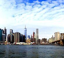 Skyline of Manhattan - New York by courdelle