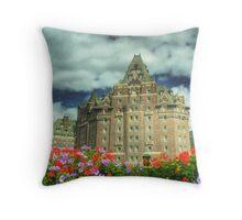 Banff Springs Hotel Throw Pillow