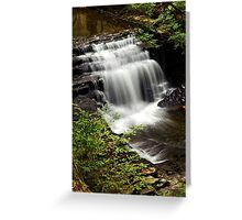 Waterfall Landscape Greeting Card