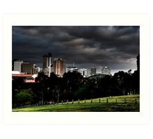Adelaide from Monefiore Hill lookout. Art Print