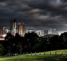 Adelaide from Monefiore Hill lookout. by Ryan Carter