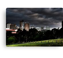 Adelaide from Monefiore Hill lookout. Canvas Print