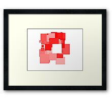 Red, Red, Red Framed Print