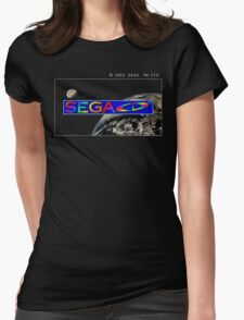 Sega CD Start Screen Womens Fitted T-Shirt