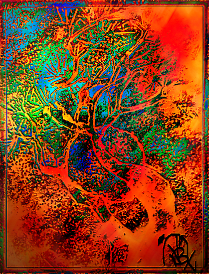 Tree of Life- Silk print by coppertrees