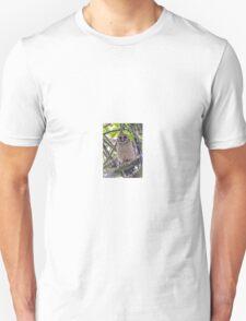 Brown Wood Owl Unisex T-Shirt