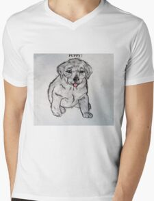 Puppy, Lab, Dog, Animal Mens V-Neck T-Shirt