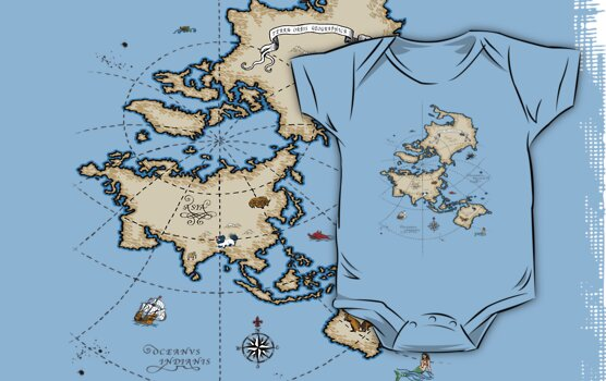 Mercator Map by Dylan DeLosAngeles