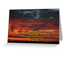 Matthew 8-26 Greeting Card