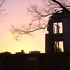 Sunset at the A-Bomb Dome, Hiroshima, Japan by tmac