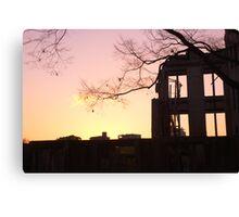 Sunset at the A-Bomb Dome, Hiroshima, Japan Canvas Print