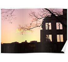 Sunset at the A-Bomb Dome, Hiroshima, Japan Poster