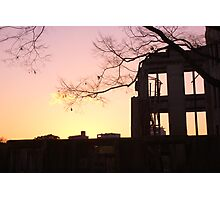 Sunset at the A-Bomb Dome, Hiroshima, Japan Photographic Print