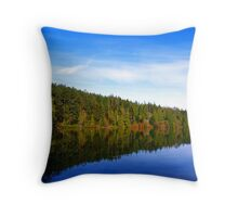 Pass Lake Fall Colors Two Throw Pillow