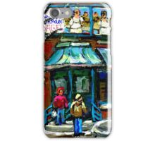 FAIRMOUNT BAGEL MONTREAL ART CANADIAN PAINTINGS iPhone Case/Skin