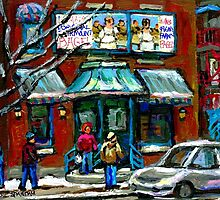 FAIRMOUNT BAGEL MONTREAL ART CANADIAN PAINTINGS by Carole  Spandau