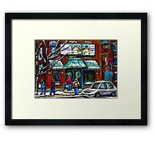 FAIRMOUNT BAGEL MONTREAL ART CANADIAN PAINTINGS Framed Print