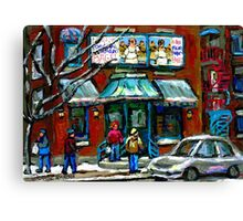 FAIRMOUNT BAGEL MONTREAL ART CANADIAN PAINTINGS Canvas Print