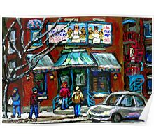 FAIRMOUNT BAGEL MONTREAL ART CANADIAN PAINTINGS Poster