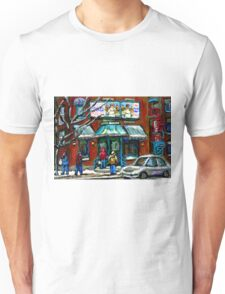 FAIRMOUNT BAGEL MONTREAL ART CANADIAN PAINTINGS Unisex T-Shirt