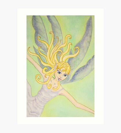free fall fairy Art Print
