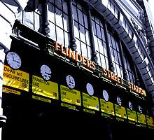 Flinders Street Station clocks by ielchan