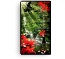 Geisha Garden Canvas Print