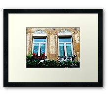 le balcon du costumier. Rue de Roubaix. Lille Framed Print