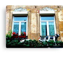 le balcon du costumier. Rue de Roubaix. Lille Canvas Print