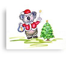 Koala Claus Canvas Print