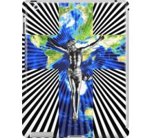 Climate Change Cube Earth Op Art Pop Jesus iPad Case/Skin