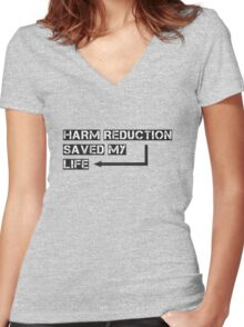 Harm reduction Women's Fitted V-Neck T-Shirt