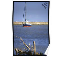 Sail boat in Harbour Poster