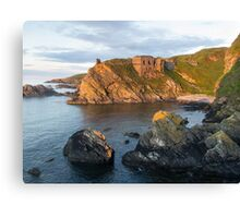 Findlater Castle Solstice Sunset Canvas Print