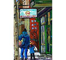 MONTREAL BAGEL SHOPS CANADIAN ART WINTER CITY SCENE Photographic Print