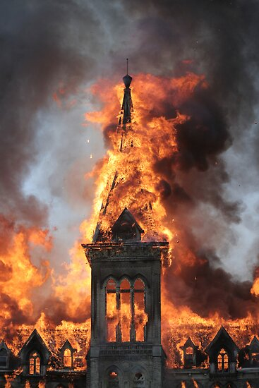 Alma College Fire by Mike Whitman