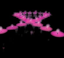 Breast Cancer Awareness Ribbon (Candles) by Mike Whitman