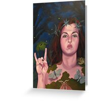 Lady of the Greenwood Greeting Card