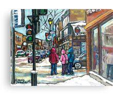 RUE WELLINGTON VERDUN MONTREAL WINTER STREET SCENE Metal Print