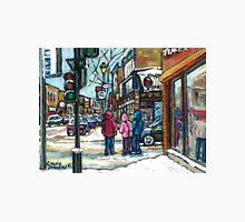 RUE WELLINGTON VERDUN MONTREAL WINTER STREET SCENE Unisex T-Shirt